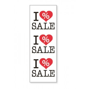 "cartel ""I love sale"""